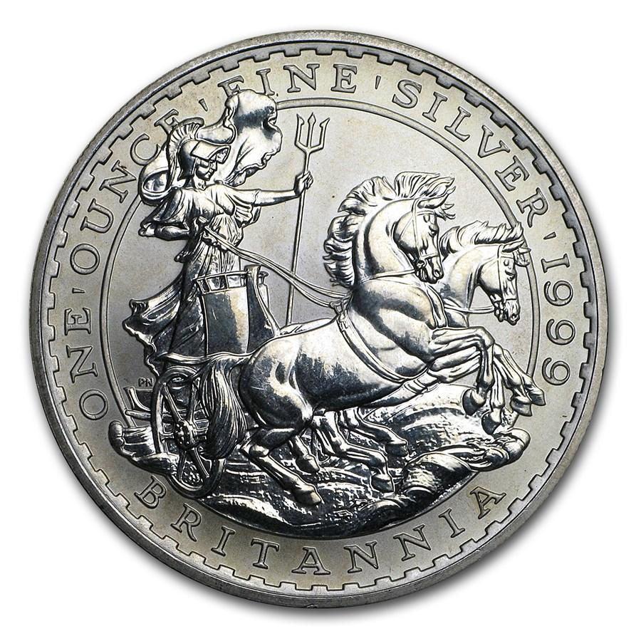 1999 Great Britain 1 oz Silver Britannia (Abrasions)