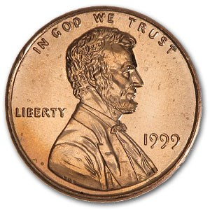 1999 Lincoln Cent BU (Red)