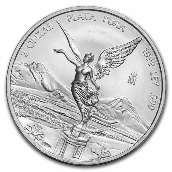 1999 Mexico 2 oz Silver Libertad BU