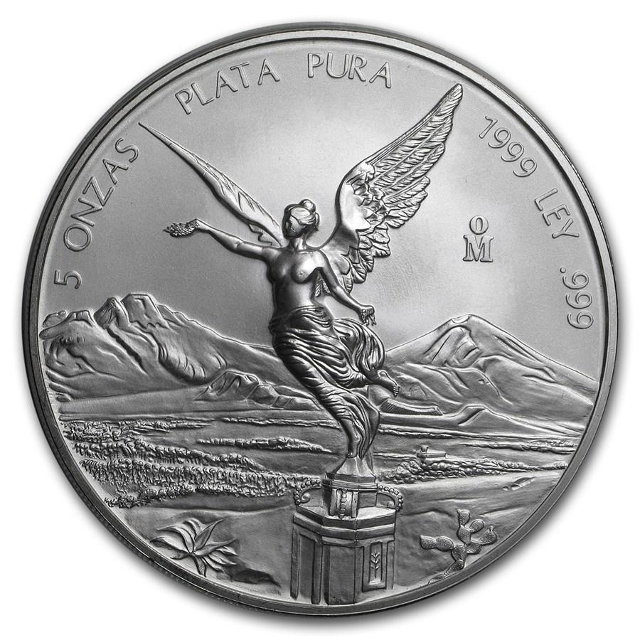 1999 Mexico 5 oz Silver Libertad BU