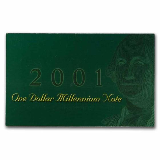 1999 Millennium Note $1.00 FRN CU (BEP Folder)
