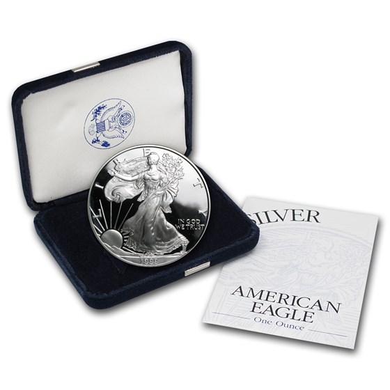 1999-P 1 oz Proof American Silver Eagle (w/Box & COA)