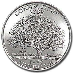 1999-P Connecticut State Quarter BU