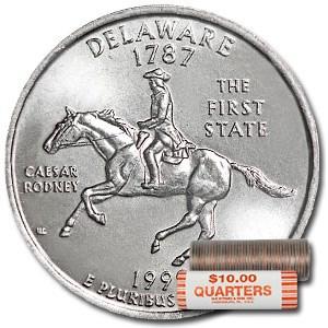 1999-P Delaware Statehood Quarter 40-Coin Roll BU