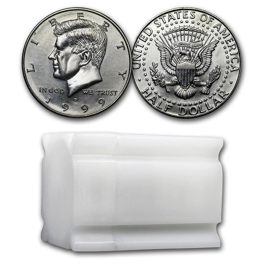 1999-P Kennedy Half Dollar 20-Coin Roll BU
