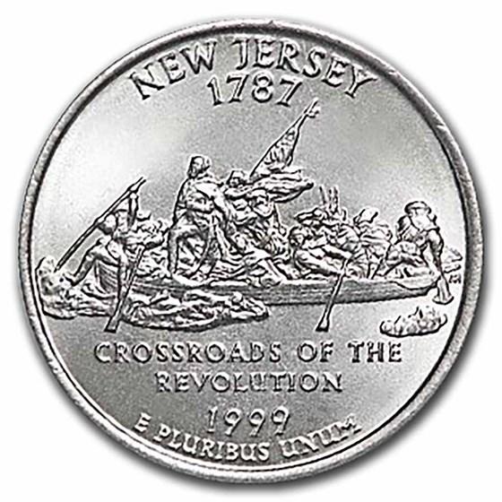 1999-P New Jersey Statehood Quarter 40-Coin Roll BU