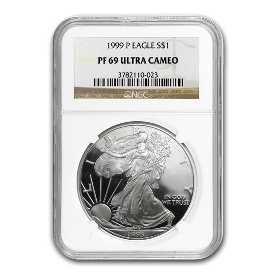 1999-P Proof American Silver Eagle PF-69 NGC