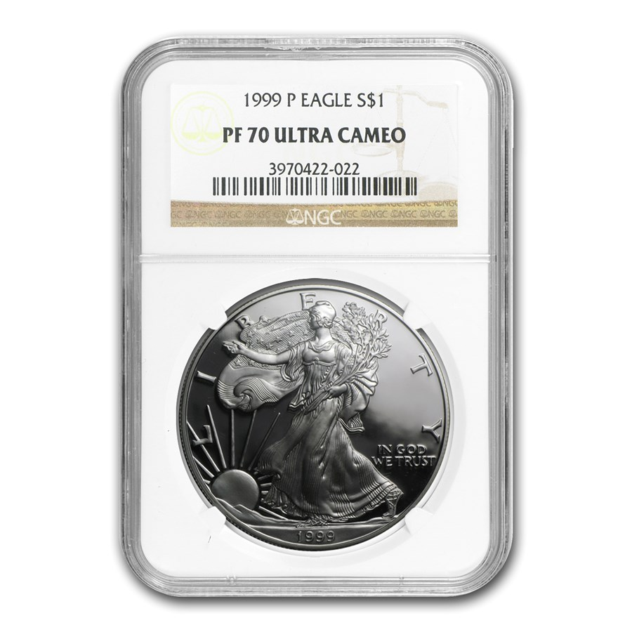 1999-P Proof American Silver Eagle PF-70 NGC
