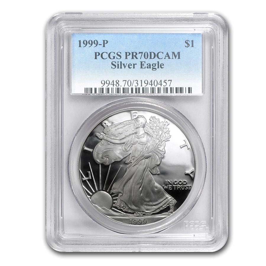 1999-P Proof American Silver Eagle PR-70 PCGS