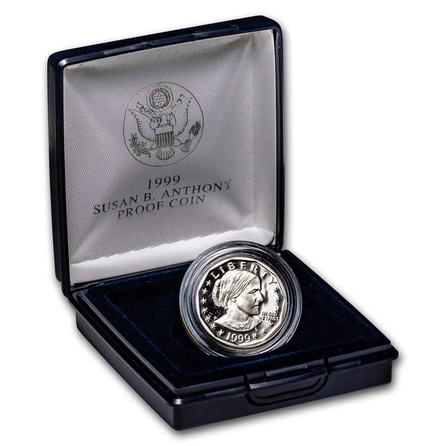 1999-P SBA Dollar Gem Proof (w/Box & COA)