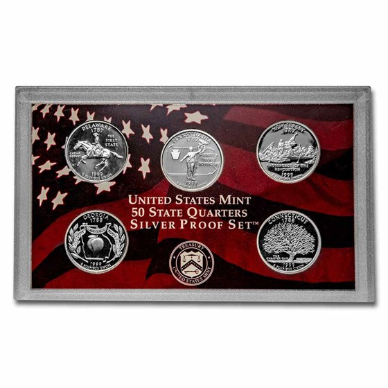 1999-S 50 State Quarters Proof Set (Silver)