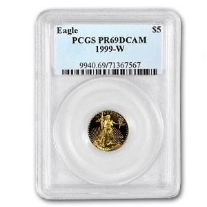 1999-W 1/10 oz Proof American Gold Eagle PR-69 DCAM PCGS