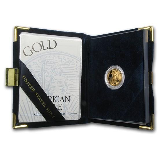 1999-W 1/10 oz Proof American Gold Eagle (w/Box & COA)