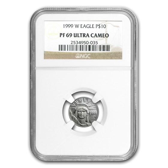 1999-W 1/10 oz Proof American Platinum Eagle PF-69 UCAM NGC