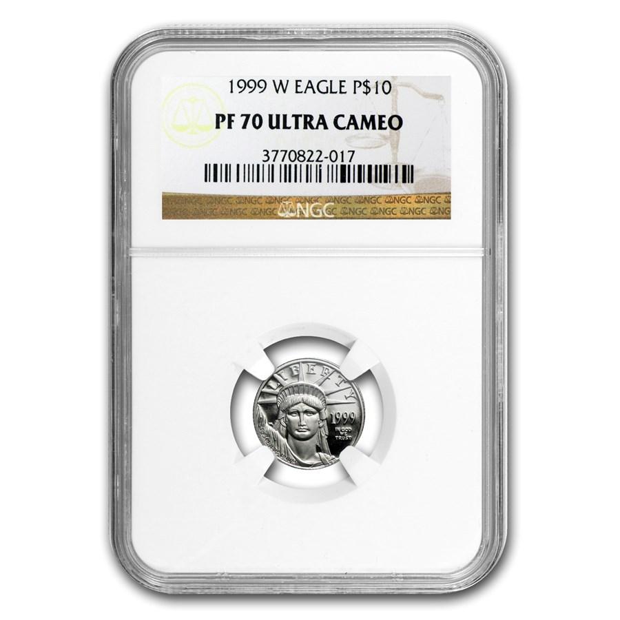 1999-W 1/10 oz Proof Platinum American Eagle PF-70 NGC