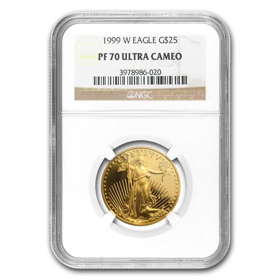 1999-W 1/2 oz Proof American Gold Eagle PF-70 UCAM NGC
