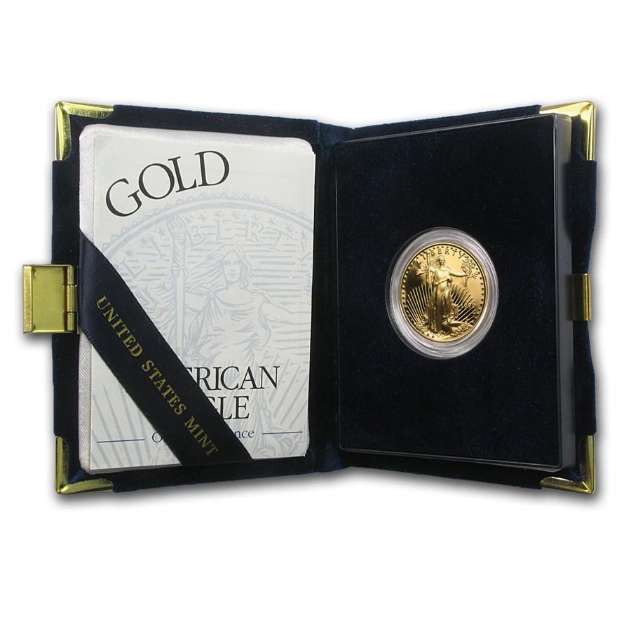 1999-W 1/2 oz Proof American Gold Eagle (w/Box & COA)