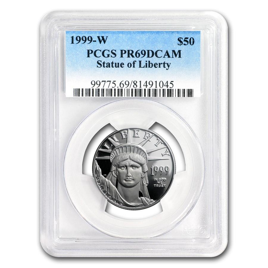 1999-W 1/2 oz Proof American Platinum Eagle PR-69 PCGS