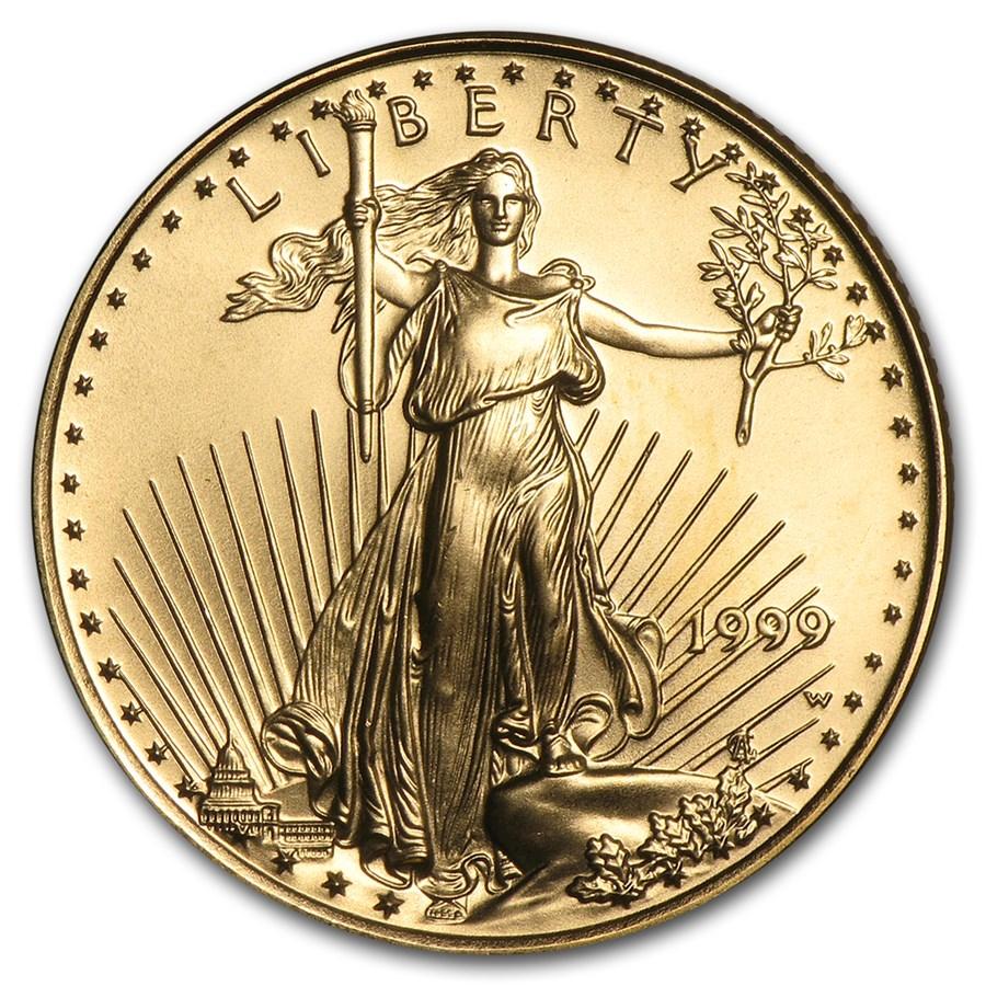 1999-W 1/4 oz Gold American Eagle BU (Rare W Variety)
