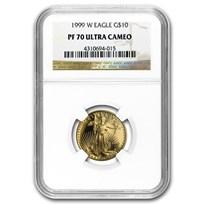 1999-W 1/4 oz Proof American Gold Eagle PF-70 NGC