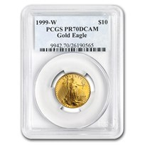 1999-W 1/4 oz Proof American Gold Eagle PR-70 PCGS