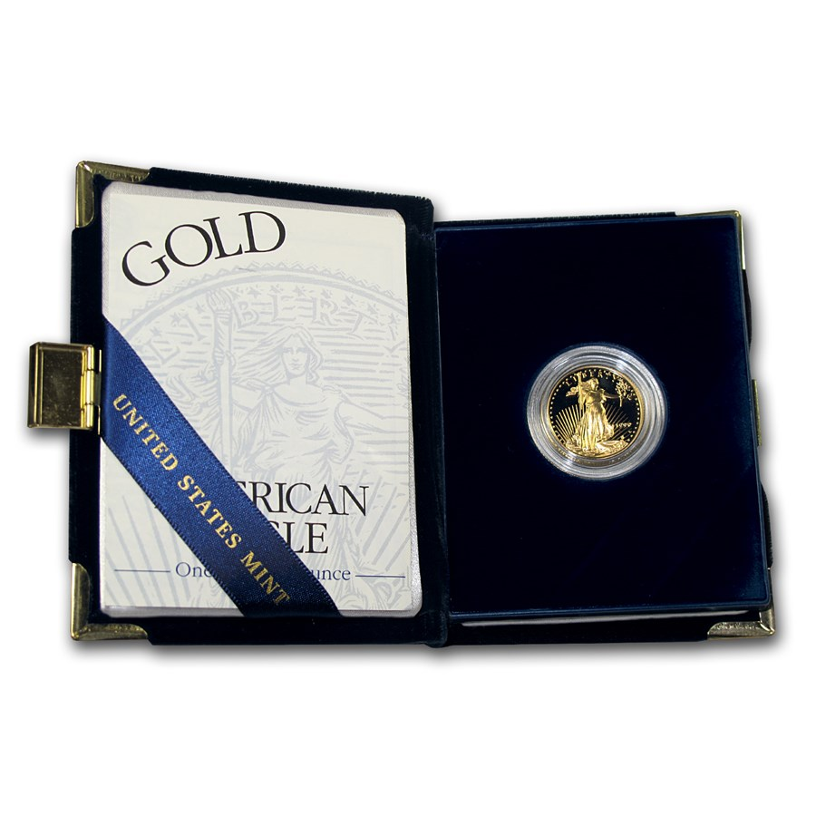 1999-W 1/4 oz Proof American Gold Eagle (w/Box & COA)