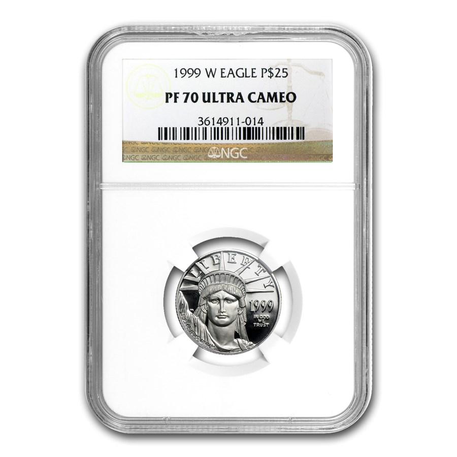 1999-W 1/4 oz Proof American Platinum Eagle PF-70 NGC UCAM