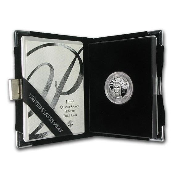 1999-W 1/4 oz Proof American Platinum Eagle (w/Box & COA)