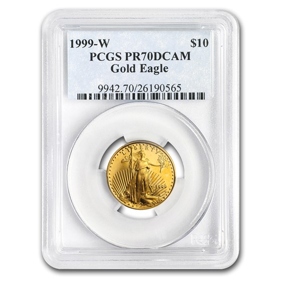 1999-W 1/4 oz Proof Gold American Eagle PR-70 PCGS