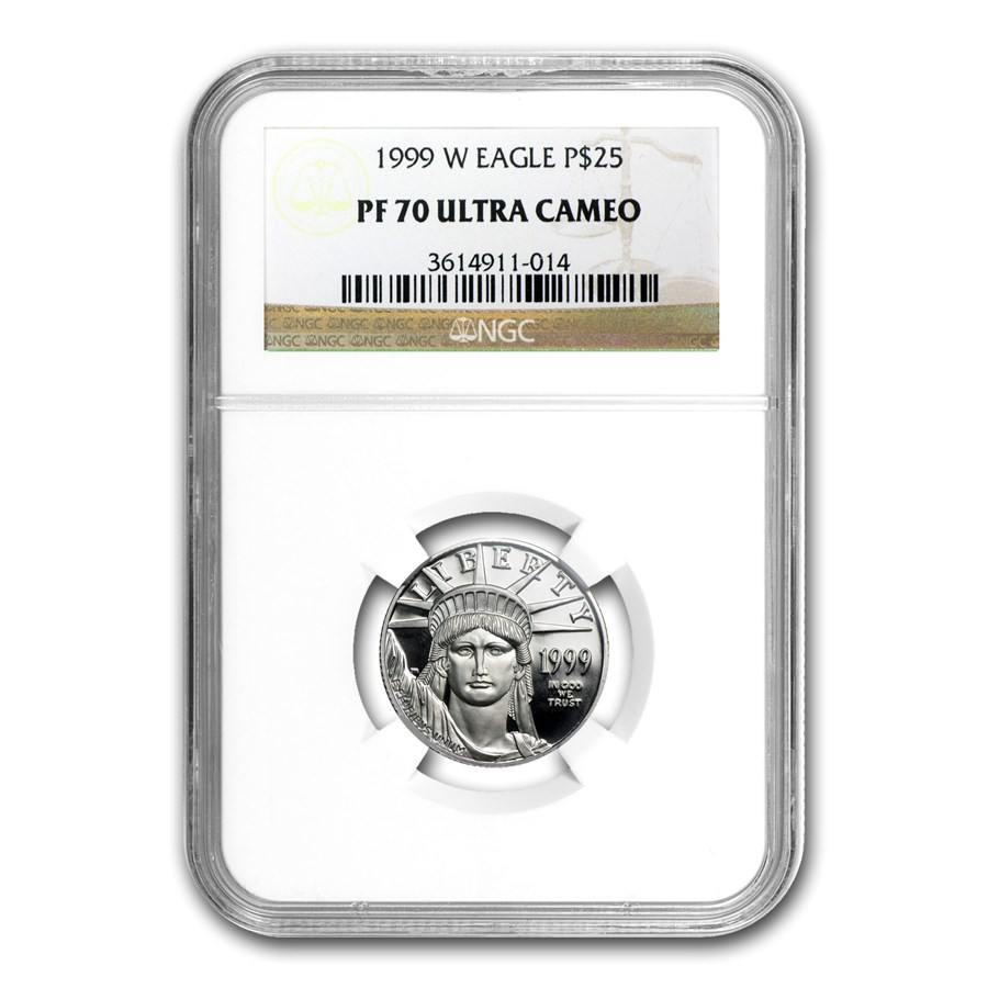 1999-W 1/4 oz Proof Platinum American Eagle PF-70 NGC UCAM