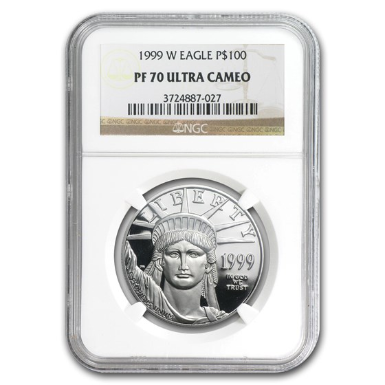 1999-W 1 oz Proof American Platinum Eagle PF-70 UCAM NGC