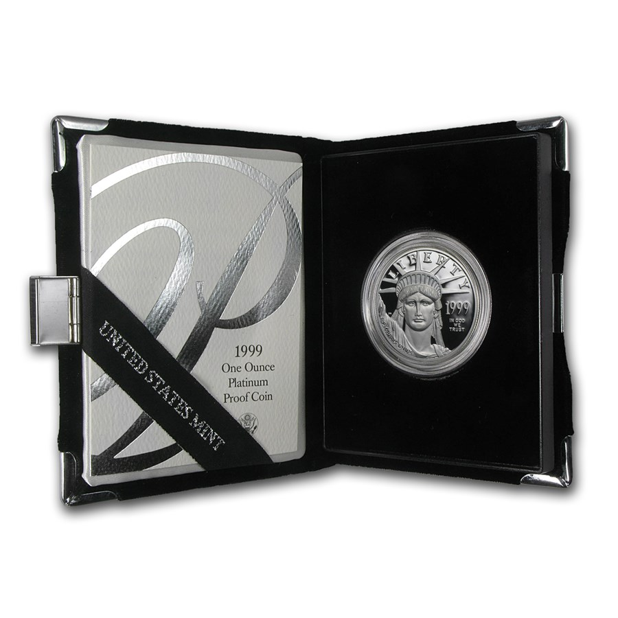 1999-W 1 oz Proof American Platinum Eagle (w/Box & COA)