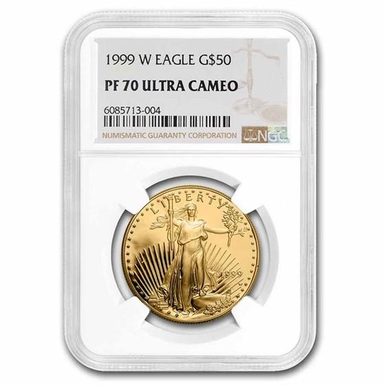 1999-W 1 oz Proof Gold American Eagle PF-70 NGC