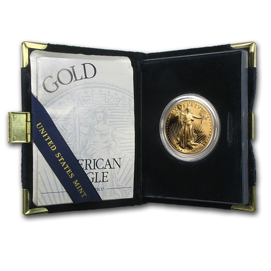 1999-W 1 oz Proof Gold American Eagle (w/Box & COA)
