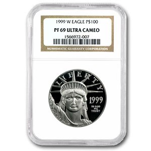 1999-W 1 oz Proof Platinum American Eagle PF-69 NGC