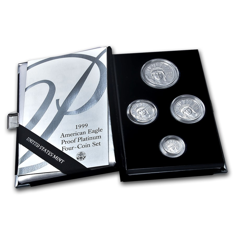 1999-W 4-Coin Proof American Platinum Eagle Set (w/Box & COA)