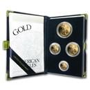 1999-W 4-Coin Proof Gold American Eagle Set (w/Box & COA)