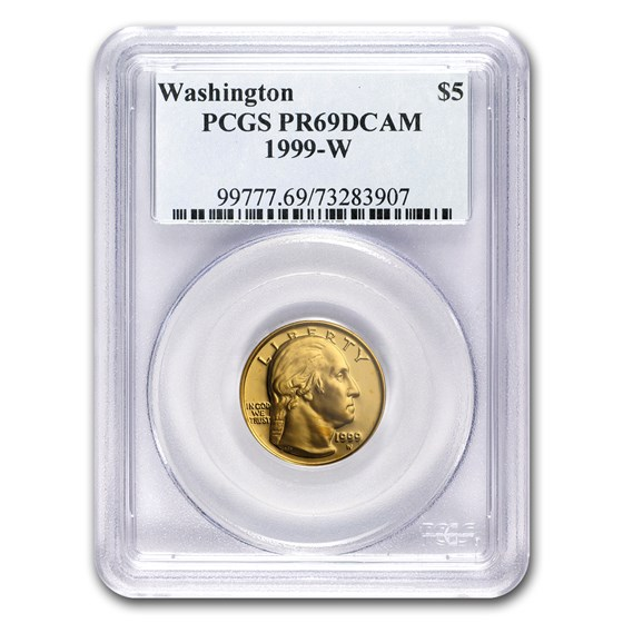 1999-W Gold $5 Commem George Washington PR-69 PCGS