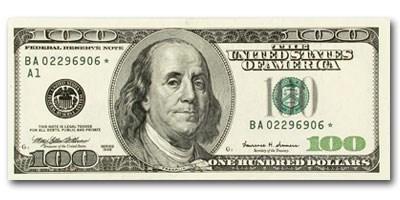 1999*(A-Boston) $100 FRN CU (Star Note)