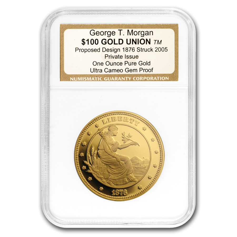1oz Gold Round - $100 Gold Union George T. Morgan Proof UCAM NGC