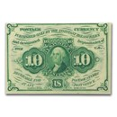 1st Issue Fractional Currency 10 Cents AU (FR#1242)