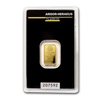 2.5 gram Gold Bar - Argor-Heraeus (In Assay)