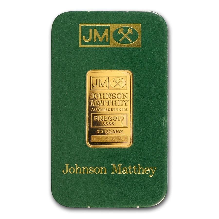 2.5 gram Gold Bar - Johnson Matthey