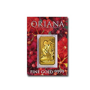 2.5 gram Gold Bar - Perth Mint Oriana (In Assay)