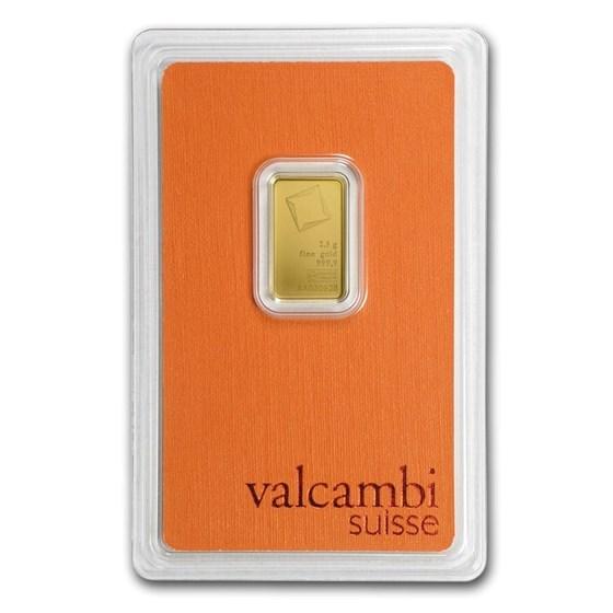 2.5 gram Gold Bar - Valcambi (In Assay)