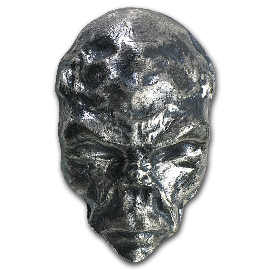 2.5 oz Silver - MK Barz & Bullion (3D Alien)