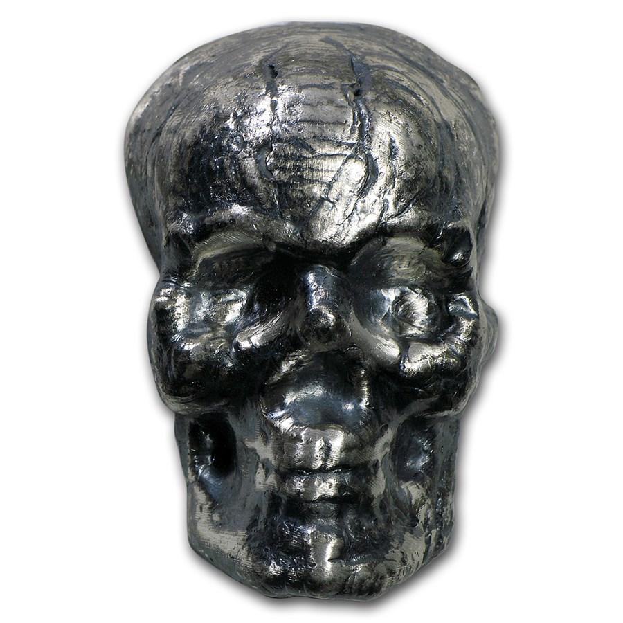 2.5 oz Silver - MK Barz & Bullion (3D Skull)