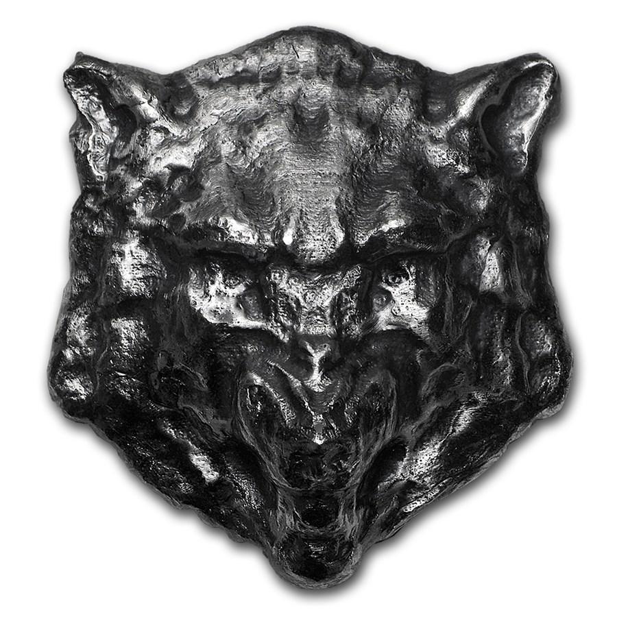 2.5 oz Silver - MK Barz & Bullion (3D Wolf)