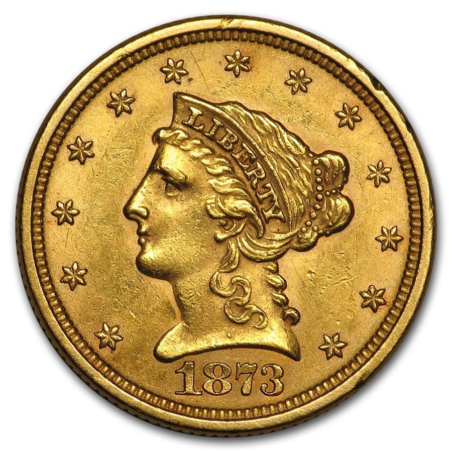 $2.50 Liberty Gold Quarter Eagle BU (Random Year)
