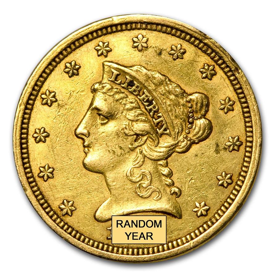$2.50 Liberty Gold Quarter Eagle (Cleaned)